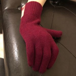 Burberry Cashmere Gloves with Check Detail - NWT